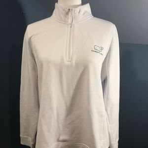 vineyard vines white and navy pullover
